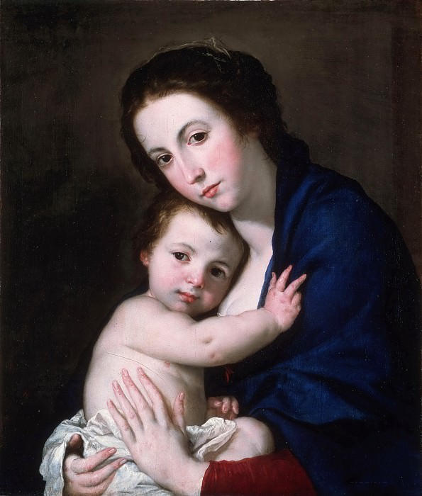 José Jusepe de Ribera, also called Lo Spagnoletto, Spanish (active Naples), 1591-1652 -- Virgin and Child. Philadelphia Museum of Art