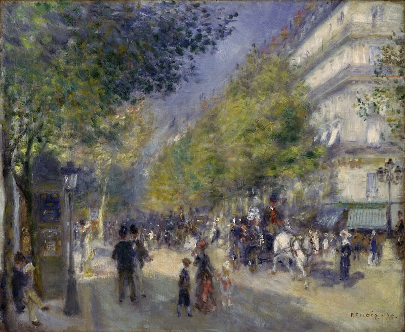Pierre-Auguste Renoir, French, 1841-1919 -- The Grands Boulevards. Philadelphia Museum of Art