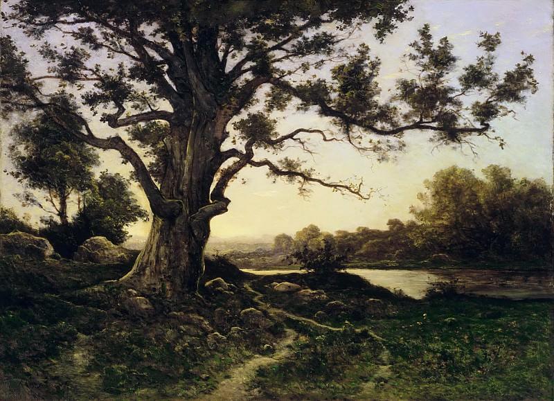 Арпиньи, Анри-Жозеф (1819 Валансьен - 1916 Сен-Приве) -- Дуб. Музей искусств Филадельфии