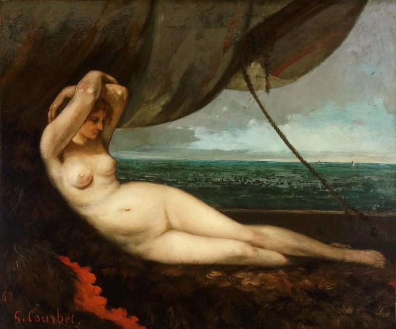 Курбе, Гюстав (1819-1877) - Обнаженная у моря. Музей искусств Филадельфии
