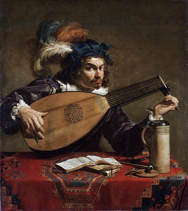 Ромбаутс, Теодор (Антверпен 1597-1637) - Лютнист. Музей искусств Филадельфии