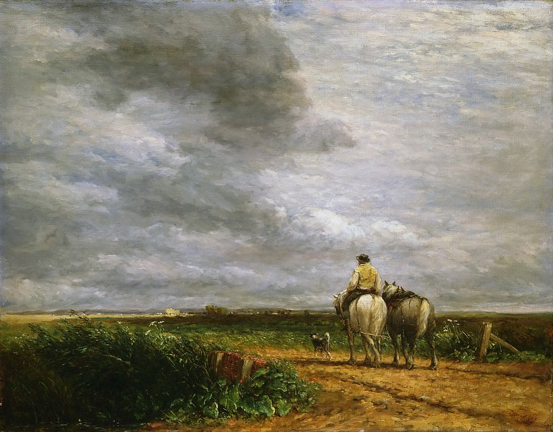 David Cox, English, 1783-1859 -- Going to the Hayfield. Philadelphia Museum of Art