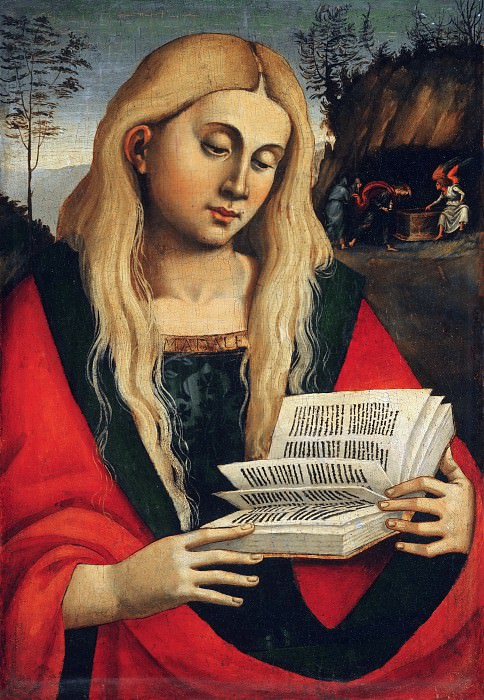 Workshop of Luca Signorelli, Italian (active central Italy), first documented 1470, died 1523 -- Saint Mary Magdalene. Philadelphia Museum of Art