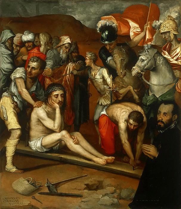 Варгас, Луис де (1502-1568) -- Приготовления к распятию. Музей искусств Филадельфии