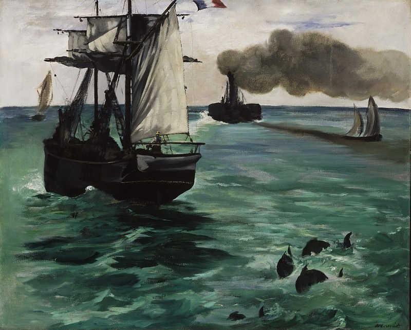 Морской пейзаж. Эдуард Мане