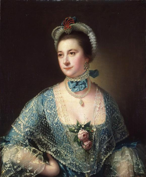 Joseph Wright, also called Joseph Wright of Derby, English, 1734-1797 -- Portrait of Mrs. Andrew Lindington. Philadelphia Museum of Art