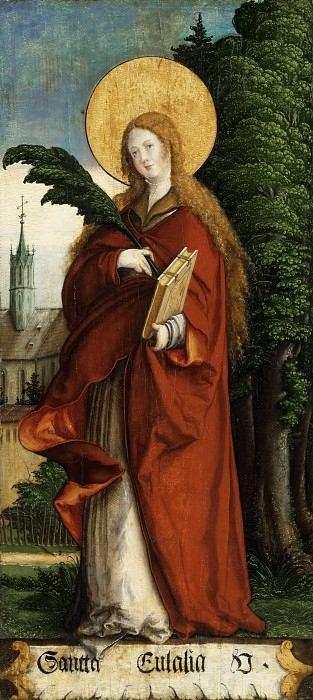 Master of Messkirch, German, active 1520-1540 -- Saint Eulalia. Philadelphia Museum of Art