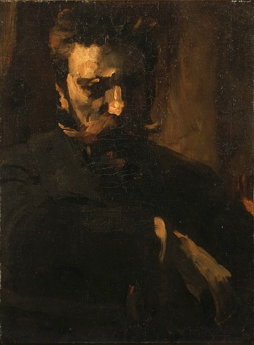 Frank Duveneck, American, 1848-1919 -- Portrait of William Merritt Chase. Philadelphia Museum of Art