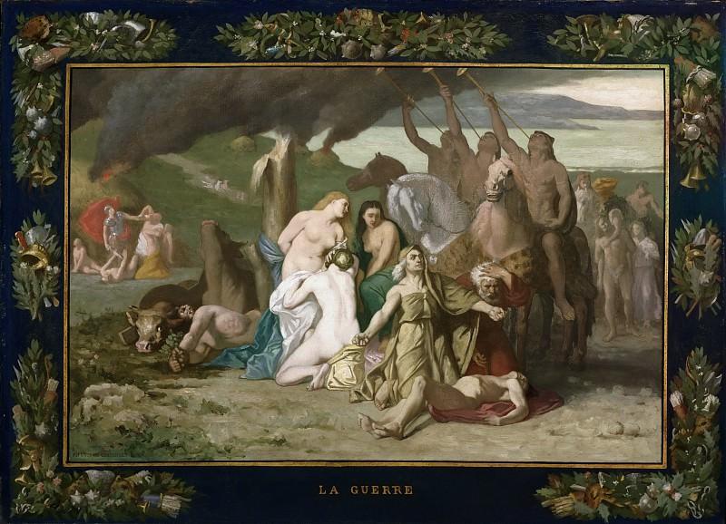 Pierre Puvis de Chavannes, French, 1824-1898 -- War. Philadelphia Museum of Art