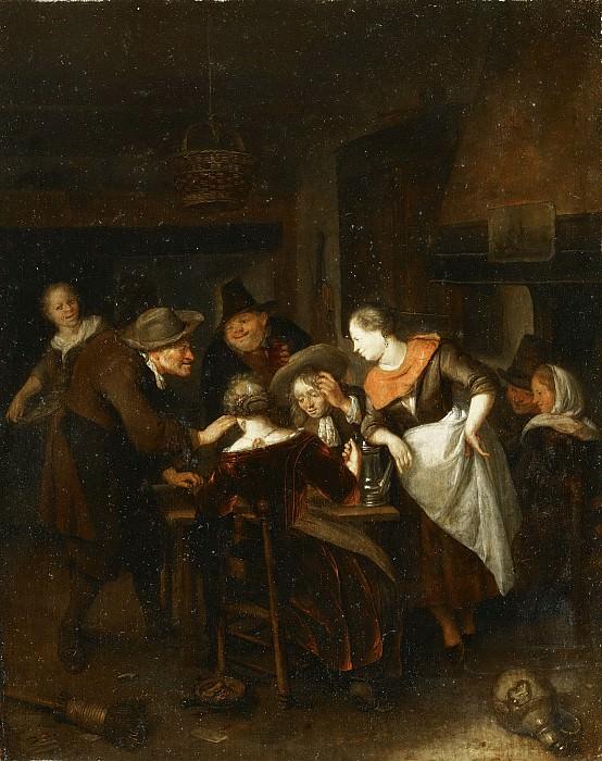Richard Brakenburg, Dutch (active Haarlem), 1650-1702 -- The Dice Players. Philadelphia Museum of Art
