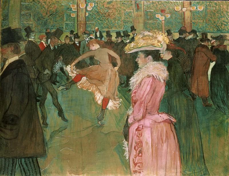 Тулуз-Лотрек, Анри (1864-1901) -- В Мулен Руж: Танец. Музей искусств Филадельфии