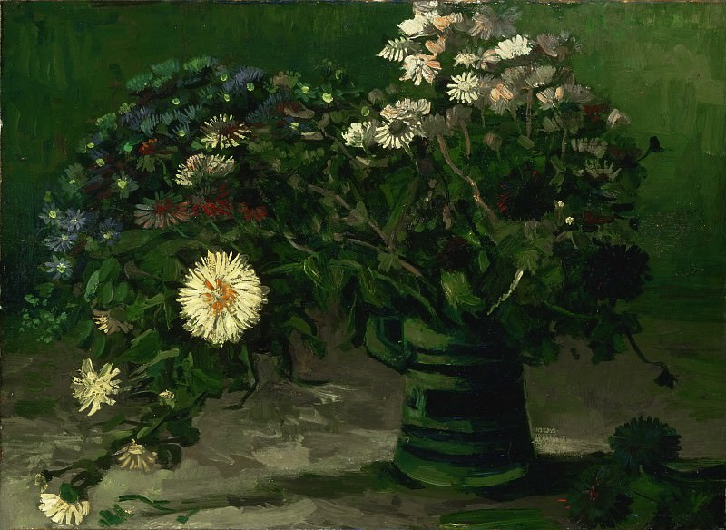 Vincent Willem van Gogh, Dutch, 1853-1890 -- Still Life with a Bouquet of Daisies. Philadelphia Museum of Art