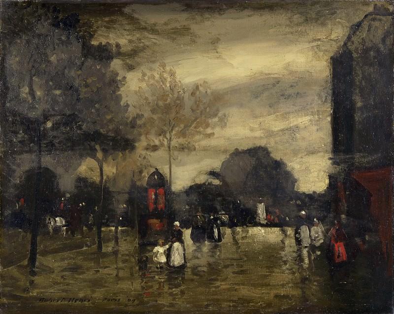 Генри, Роберт (1865-1929) -- Бульвар в пасмурную погоду, Париж. Музей искусств Филадельфии
