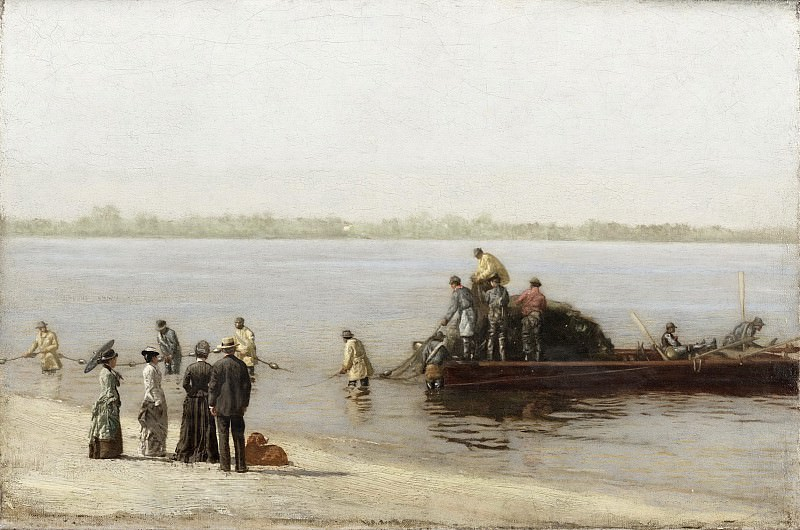 Thomas Eakins, American, 1844-1916 -- Shad Fishing at Gloucester on the Delaware River. Philadelphia Museum of Art