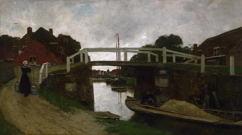 Марис, Якоб (1837 Гаага - 1899 Карлсбад) -- Канал близ Рейсвейка. Музей искусств Филадельфии