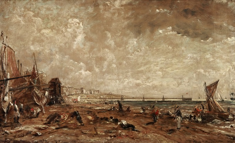 John Constable, English, 1776-1837 -- The Marine Parade and Chain Pier, Brighton (Sketch). Philadelphia Museum of Art