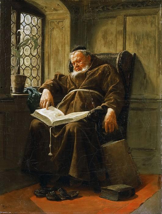 Краус, Август (1852-1917) -- Интерьер (Уставший). Музей искусств Филадельфии