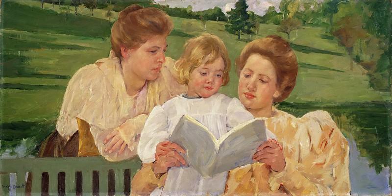 Кэссет, Мэри (1844-1926) - Семейное чтение. Музей искусств Филадельфии