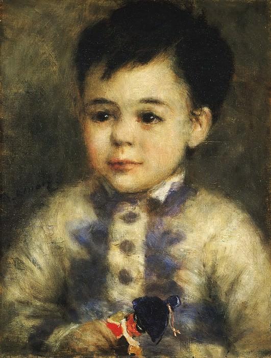 Pierre-Auguste Renoir, French, 1841-1919 -- Boy with a Toy Soldier (Portrait of Jean de La Pommeraye). Philadelphia Museum of Art