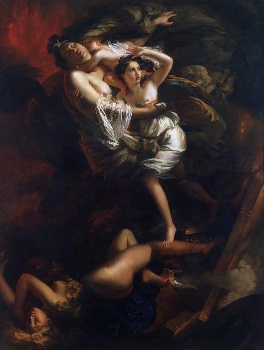 Joseph Franque, French (active Naples), 1774-1833 -- Scene During the Eruption of Vesuvius. Philadelphia Museum of Art