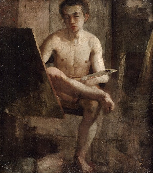 Charles Lewis Fussell, American, 1840-1909 -- A Young Art Student (Portrait of Thomas Eakins). Philadelphia Museum of Art