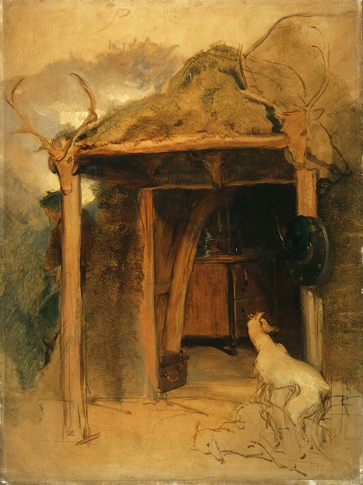 Sir Edwin Landseer, English, 1802-1873 -- Duchess of Bedford's Hut, Glenfeshie. Philadelphia Museum of Art