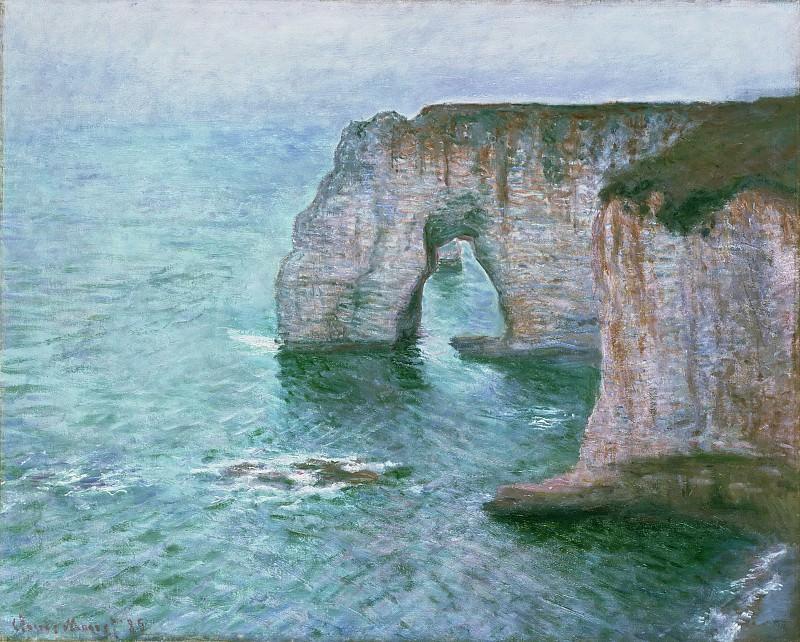 Claude Monet, French, 1840-1926 -- Manne-Porte, Étretat. Philadelphia Museum of Art