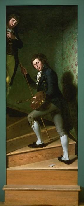 Пил, Чарльз Уилсон (1741-1827) -- Лестница (Рафаэль Пил и Тициан Рэмзи Пил). Музей искусств Филадельфии