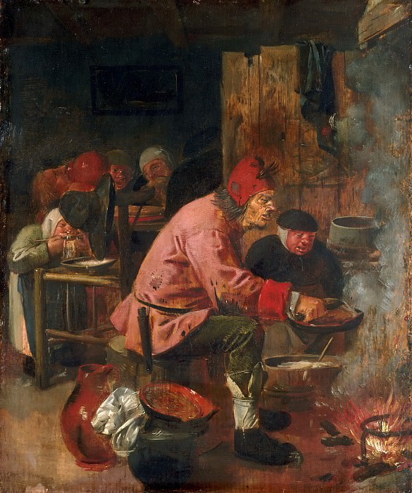 Attributed to Adriaen Brouwer, Dutch (active Haarlem, Amsterdam, and Antwerp), 1606-1638 -- Pancake Baker. Philadelphia Museum of Art