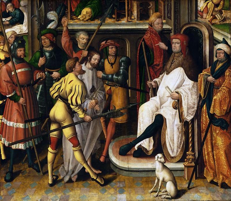Багерт, Ян (Мастер из Каппенберга)(Везель ок1465 - 1527/35) -- Христос перед Анной (Анна - первосвященник). Музей искусств Филадельфии