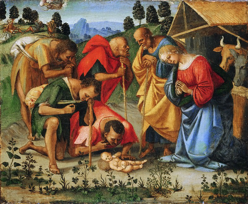 Luca Signorelli, Italian (active central Italy), first documented 1470, died 1523 -- The Adoration of the Shepherds. Philadelphia Museum of Art