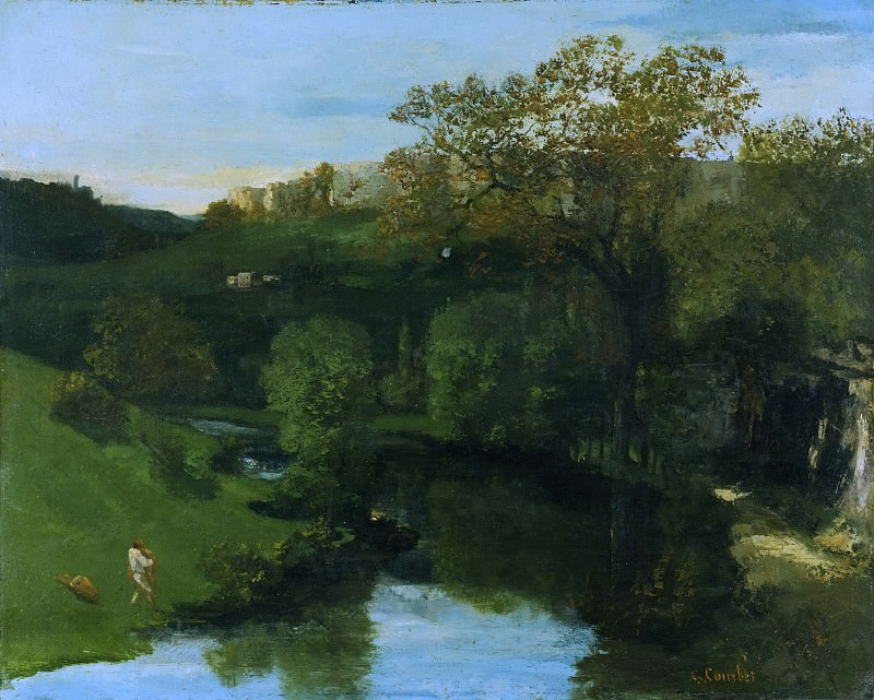 Курбе, Гюстав (1819-1877) - Лощина. Музей искусств Филадельфии