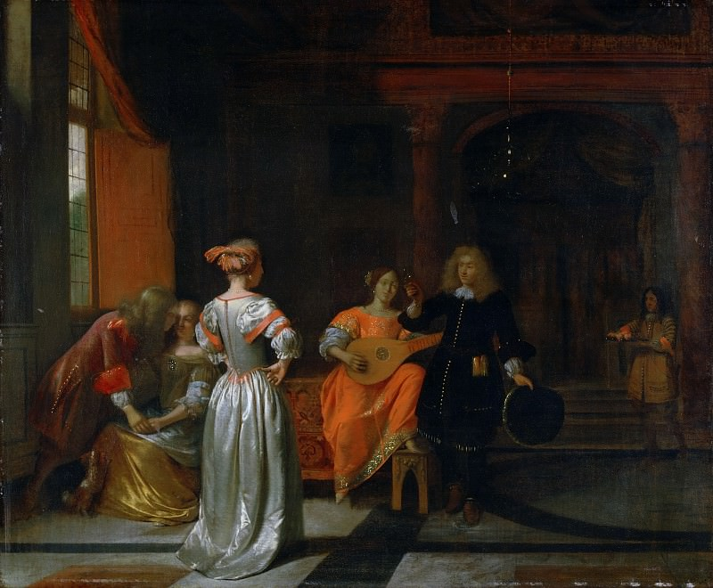 Pieter de Hooch, Dutch (active Delft and Amsterdam), 1629-1684 -- Party. Philadelphia Museum of Art