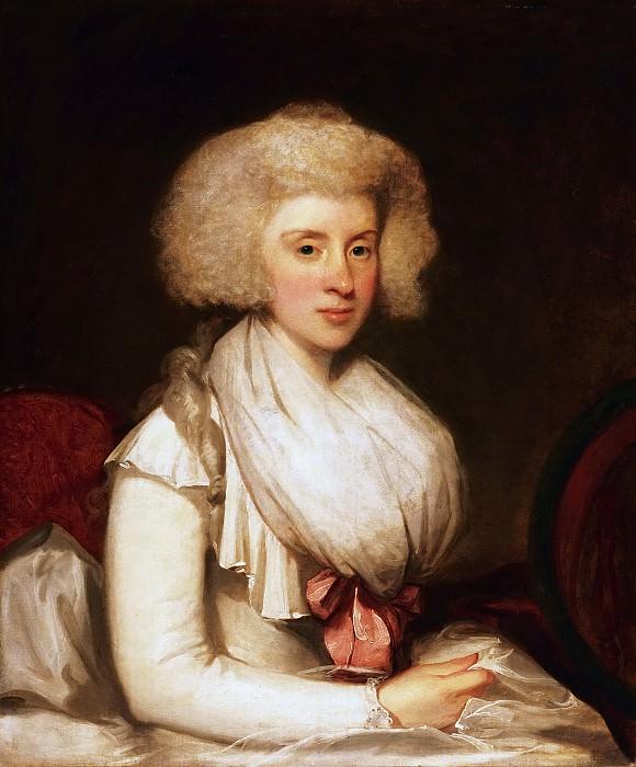 Gilbert Charles Stuart, American, 1755-1828 -- Portrait of Mrs. Christopher Bertson. Philadelphia Museum of Art