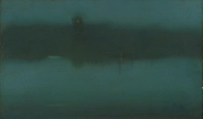 Уистлер, Джеймс Эббот Макнил (1834 Лоуэлл - 1903 Лондон) -- Ноктюрн. Музей искусств Филадельфии
