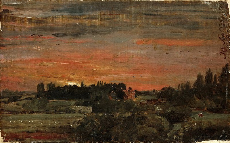 John Constable, English, 1776-1837 -- View toward the Rectory, East Bergholt. Philadelphia Museum of Art