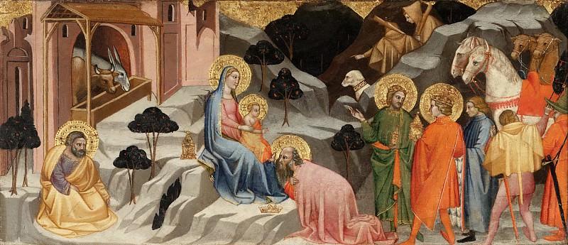 Ченни ди Франческо (работал во Флоренции с 1369 - умер 1414) -- Поклонение волхвов. Музей искусств Филадельфии