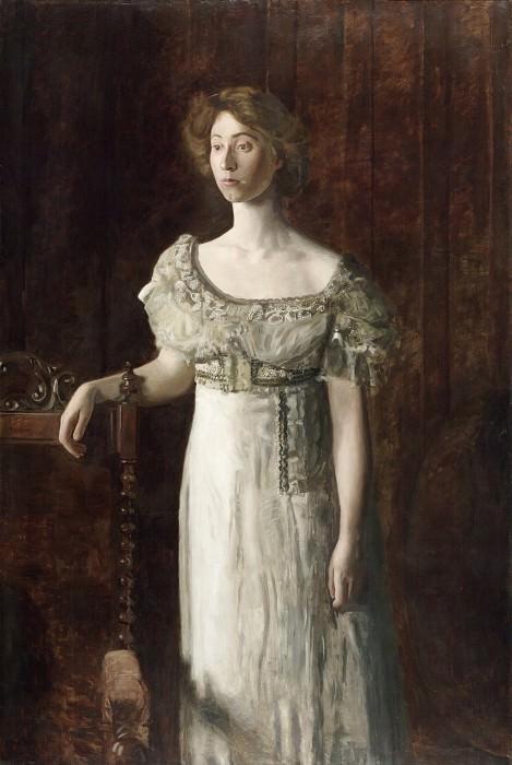 Thomas Eakins, American, 1844-1916 -- The Old-Fashioned Dress (Portrait of Helen Montanverde Parker). Philadelphia Museum of Art
