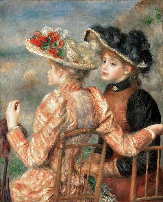 Pierre-Auguste Renoir, French, 1841-1919 -- Two Girls. Philadelphia Museum of Art