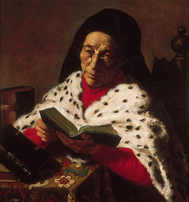 Attributed to Jan Lievens, Dutch (active Leiden and Amsterdam), 1607-1674 -- Old Woman Reading. Philadelphia Museum of Art