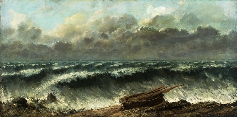Gustave Courbet, French, 1819-1877 -- Waves. Philadelphia Museum of Art
