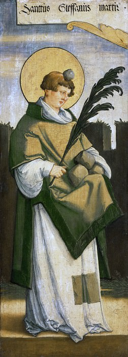 Мастер из Месскирха (ок1500-ок1572) -- Святой Стефан. Музей искусств Филадельфии