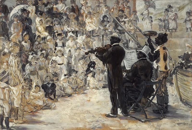 Jean-François Raffaëlli, French, 1850-1924 -- The Minstrels. Philadelphia Museum of Art