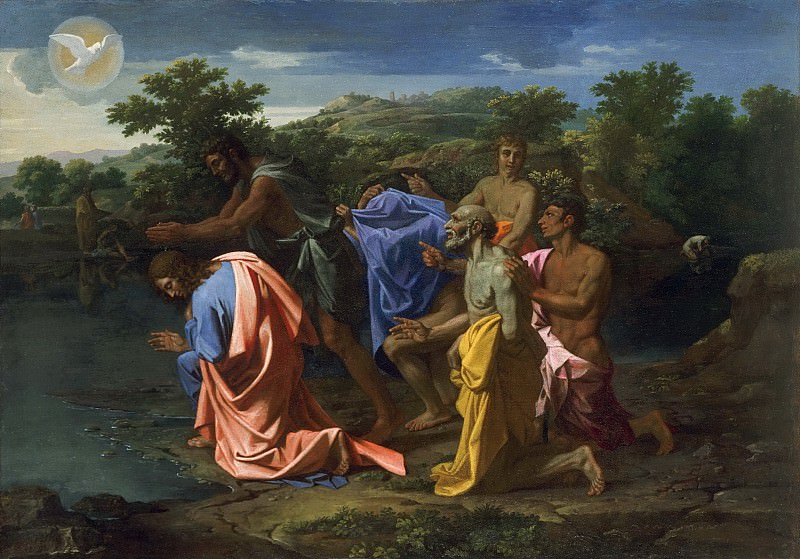 The Baptism of Christ. Nicolas Poussin