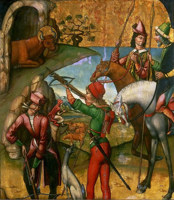 Мастер из Паланкиноса -- Выстрел в быка на горе Гаргано. Музей искусств Филадельфии
