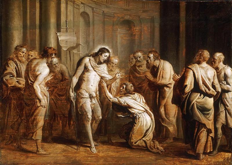 Erasmus Quellinus II, Flemish (active Antwerp), 1607-1678 -- Saint Thomas Touching Christ's Wounds. Philadelphia Museum of Art
