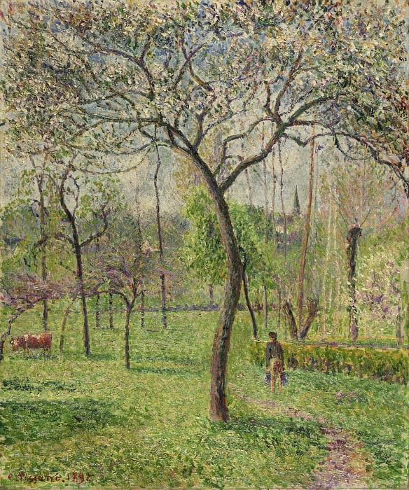 Camille Pissarro, French, 1830-1903 -- Landscape (Orchard). Philadelphia Museum of Art