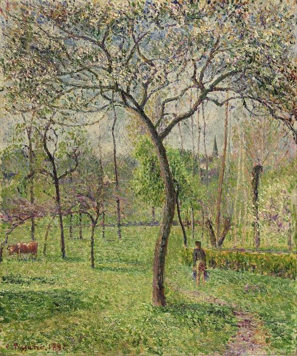 Писсарро, Камиль (1830 остров Сен-Тома (Вест-Индия) - 1903 Париж) -- Пейзаж (Фруктовый сад). Музей искусств Филадельфии
