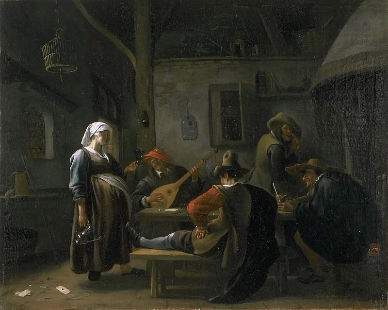 Jan Steen, Dutch (active Leiden, Haarlem, and The Hague), 1625/26-1679 -- Tavern Scene with a Pregnant Hostess. Philadelphia Museum of Art