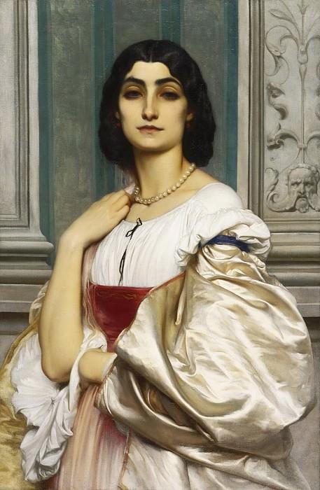 A Roman Lady (La Nanna). Frederick Leighton